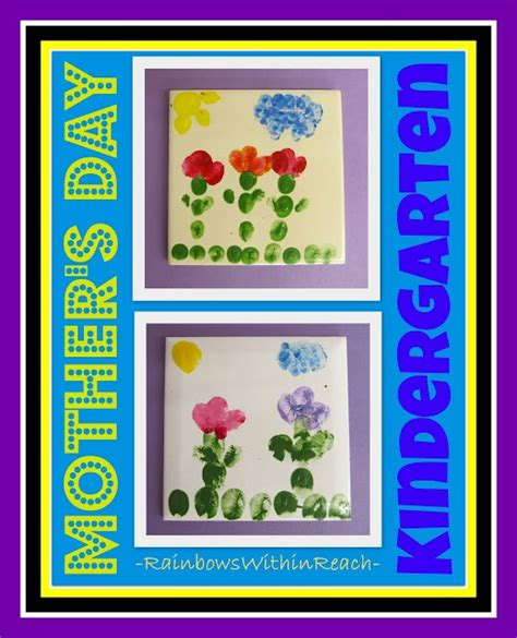 kindergarten ceramic tiles created for s day from