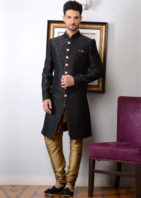 buy new year men fashion online now at zalora hong kong readymade black indo western sherwani men 136mw36