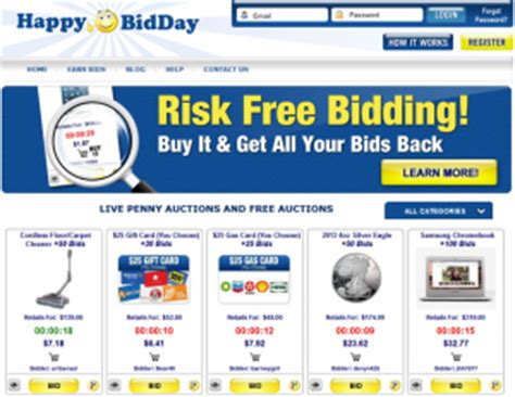 Bid Auction Websites Happybidday Strategy Guide