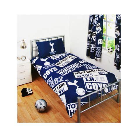Tottenham FC Patch Single Duvet Cover and Pillowcase Set ...