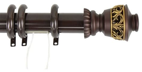 decorative traverse rod with rings lattice finial 30 quot 48