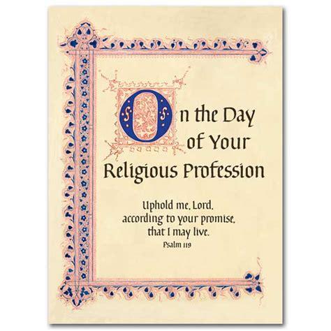 day   religious profession religious