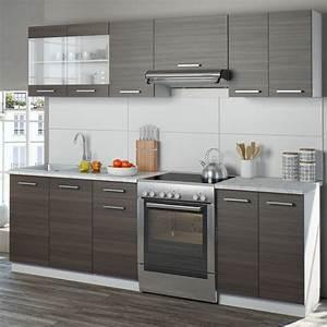 Küchenzeile 240 Cm : vicco k che 240 cm k chenzeile k chenblock real ~ Orissabook.com Haus und Dekorationen