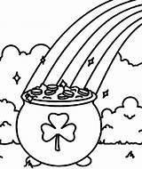 Pot Coloring Shamrock Gold Rainbow Pages Shamrocks Symbol Clipart Printable St Pancake Line Drawing Patricks Getdrawings Pages14 Cheshire Wonderland Alice sketch template