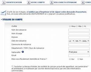 Prix Cheque De Banque Banque Postale : ouvrir un compte banque postale en ligne ~ Medecine-chirurgie-esthetiques.com Avis de Voitures