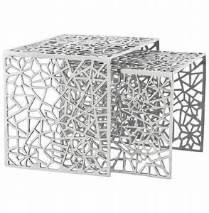 Table Gigogne Design : table d 39 appoint haki en aluminium poli table design ~ Teatrodelosmanantiales.com Idées de Décoration