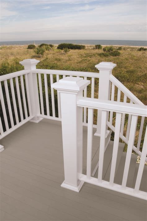 vinyl deck railing ideas  pinterest vinyl