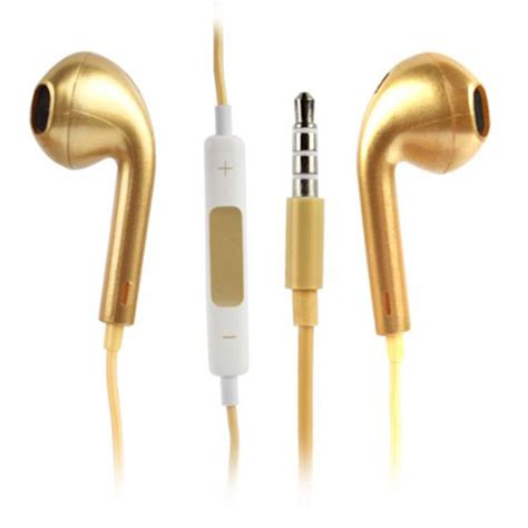 gold iphone headphones gold earphones headphones with remote mic for