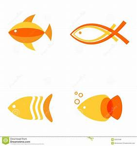 Abstract Fish Logos Set For Seafood Restaurant Or Fish ...