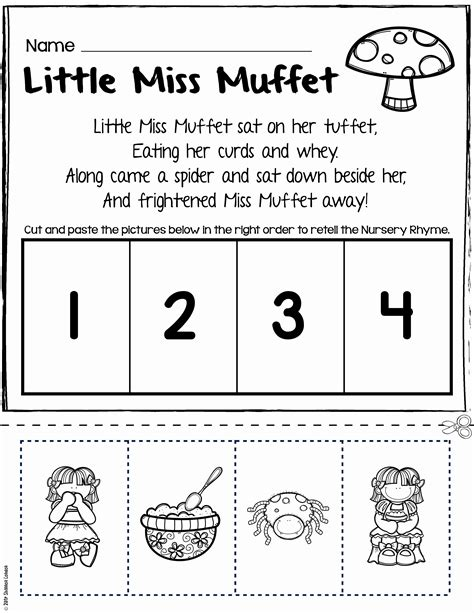 rhyming worksheets for kindergarten cut and paste