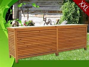 Banc Coffre De Rangement Exterieur : coffre de rangement en bois massif xxl ~ Teatrodelosmanantiales.com Idées de Décoration