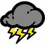 Severe Bmkg Thunderstorms Weather Icon Cuaca Pm