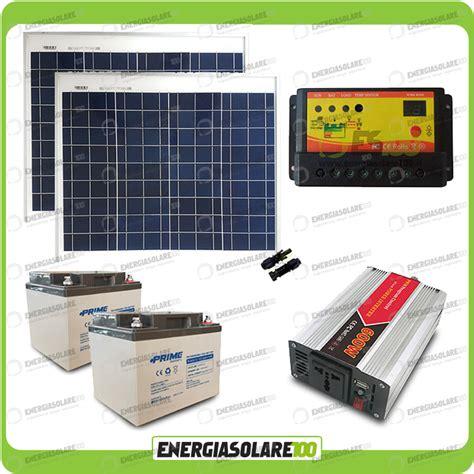 kit solaire pour chalet kit chalet panneau solaire 100w convertisseur 600w dc ac 24v 220v autoconsommati ebay