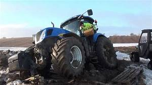Nh T7050 Tractor Stuck In The Mud  New Holland Website