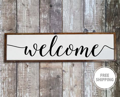 Welcome Sign For Front Porch Home Decor Signs Living Room Laminate Flooring Around Door Jambs Legacy Clearance Free Shipping Is Wood Good How To Remove Carpet And Install Most Popular Color Wolverhampton Wholesale