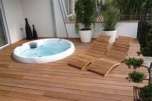Spa Bois Exterieur : jacuzzi rond exterieur maison design ~ Premium-room.com Idées de Décoration