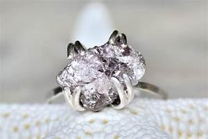 alternative engagement rings rough purple diamond onewedcom With diamond alternative wedding rings