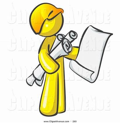 Clipart Architect Worker Blueprints Clip Construction Contractor