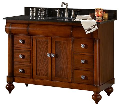 48 Inch Antique Bathroom Vanity Features American Parlor