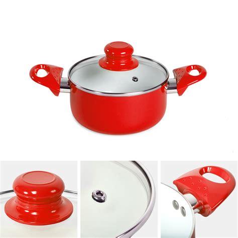 batterie cuisine en 8pcs batterie de cuisine kit casseroles poêle céramique