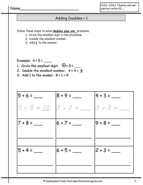single digit addition worksheets from the s guide