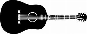 Acoustic Guitar Silhouette Clip Art