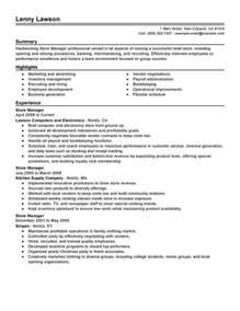 resume format store manager store manager resume exles management resume sles livecareer