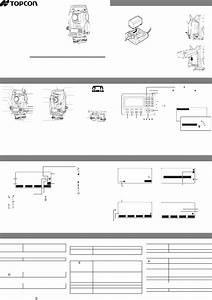 Topcon Es Series Measuring Instruments Manual Pdf View