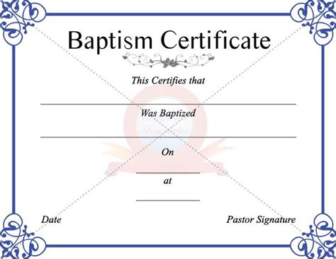17 Church Certificate Templates Free Printable Sle Designs 17 Best Images About Christenings On