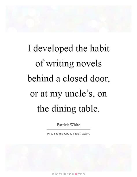 from the dining table lyrics i developed the habit of writing novels behind a closed