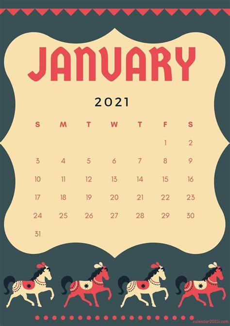 cute january  calendar designs