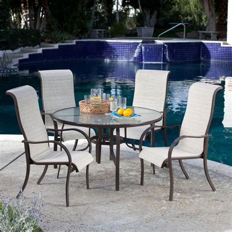 coral coast deluxe padded sling patio dining set