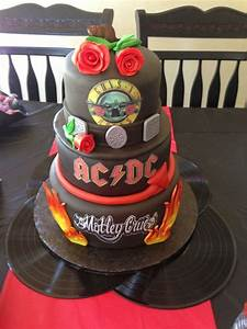 Classic Rock Birthday Party - 3 tier cake | Classic Rock ...