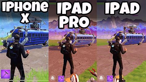 iphone   ipad  ipad pro fortnite mobile app