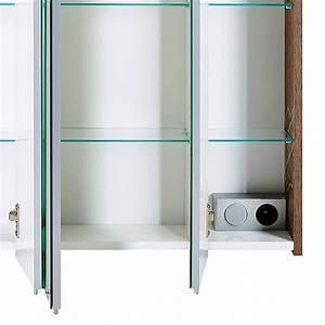 Spiegelschrank 60 Cm Led : schildmeyer milan led spiegelschrank 60 x 72 5 cm mit beleuchtung spanplatte panamaeiche ~ Bigdaddyawards.com Haus und Dekorationen