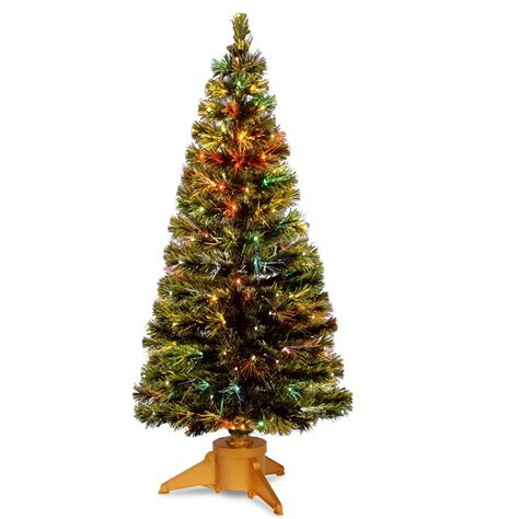 national artificial christmas trees national tree company 6 ft fiber optic radiance fireworks 3432