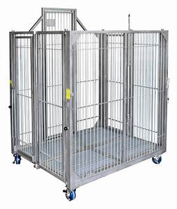 collapsible mobile dog kennel lab animal housing equipment With mobile dog crate