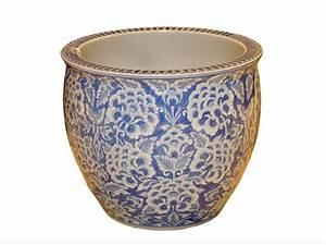 Cache Pot Bleu : cache pot bleu fleurs aux merveilles d 39 asie ~ Teatrodelosmanantiales.com Idées de Décoration