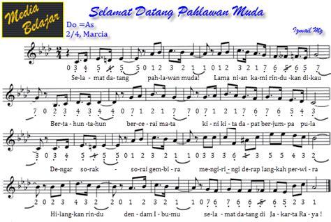 not angka lagu rayuan pulau kelapa not angka lagu wajib media belajar