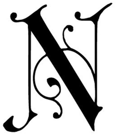 letter n in different fonts briar press typographic ornament free for non