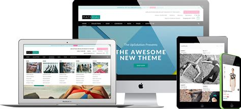 shopify website templates responsive shopify theme material roartheme
