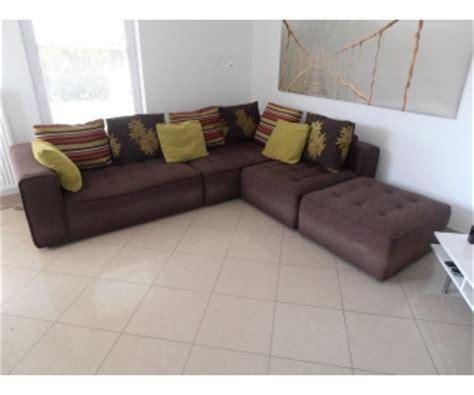 canapé à vendre canapé d 39 angle tissu brun seraing à vendre