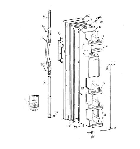 ge refrigerator  series parts model tfxjrbkww sears partsdirect