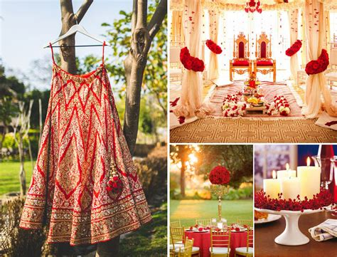 Trending Red White and Gold Wedding Theme Ideas for 2016
