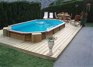 Piscines Semi Enterrées : piscine semi enterr e terrasse bois ju56 jornalagora ~ Zukunftsfamilie.com Idées de Décoration