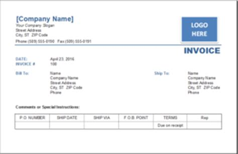 ms excel consignment invoice template excel invoice