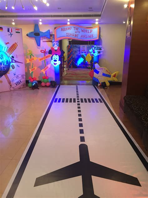 Themed Birthday Party Around The World Theme Entry