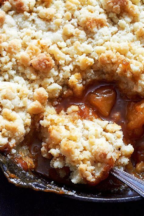 caramel apple skillet crumble recipe eatwell