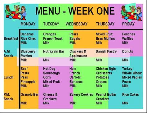 week one menu childcare jpg recipes day 996 | 396e408133cde259e5f63f11c5d7e692