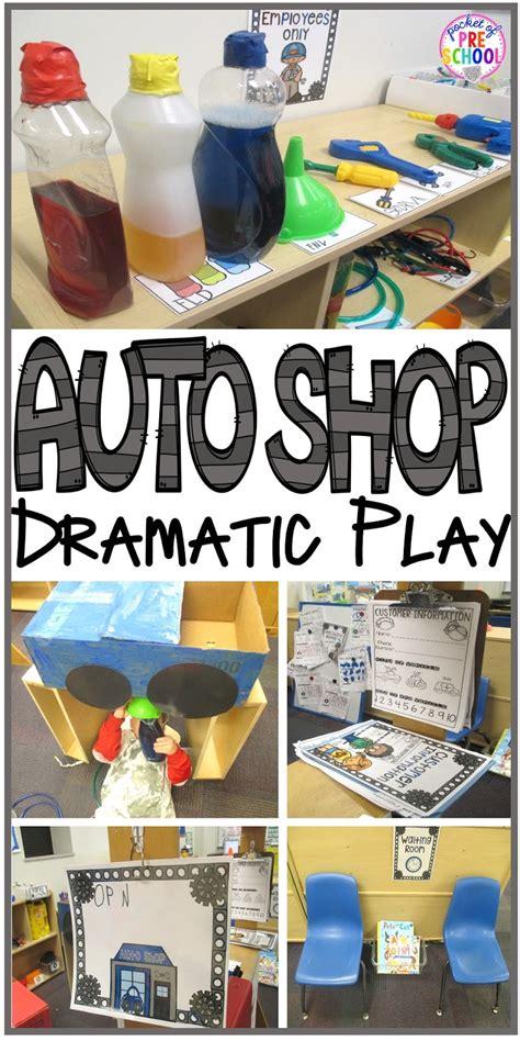 auto shop dramatic play pocket of preschool 504 | Slide9